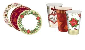 Einwegteller & Einwegbecher für Weihnachten