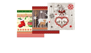 Weihnachtsservietten 25x25 cm