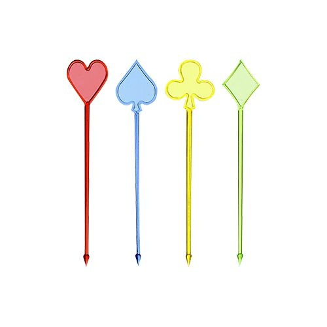 "Partypicker, PS 8,5 cm farbig sortiert ""Skat"" - Bild 1"