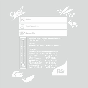 Gefrierbeutel, LLDPE 1 l 24 x 16 cm transparent in Faltschachtel - Bild 3