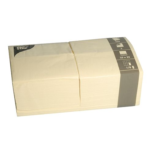 Servietten, creme 3-lagig 1/8-Falz 33 x 33 cm - Bild 1