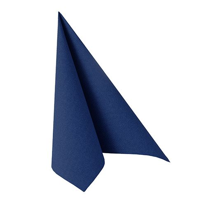 "Servietten, dunkelblau ""ROYAL Collection"" 1/4-Falz 33 x 33 cm - Bild 1"