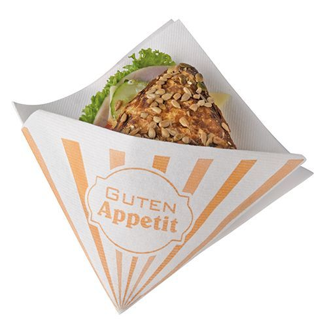 """Snackservietten, stoffähnlich, Airlaid 1/4-Falz 32,5 x 30,5 cm weiss """"Guten Appetit"""" - Bild 1"""