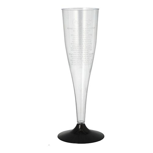 Einweg-Sektgläser, PS 0,1 l Ø 5 cm · 17,5 cm glasklar - Bild 1