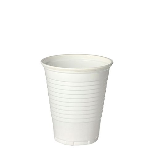 Plastikbecher (PP), 0,15 l Ø 7,03 cm · 7,9 cm weiss - Bild 1
